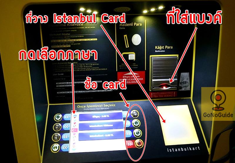 วิธีซื้อ Istanbul Card
