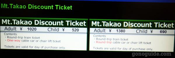 ตั๋วเดินทางไป Mt Takao