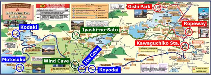 แผนที่เที่ยวคาวากุจิโกะ
