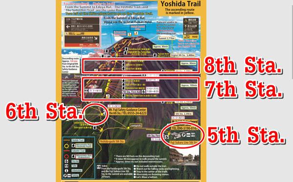 แผนที่ Yoshida Traiil