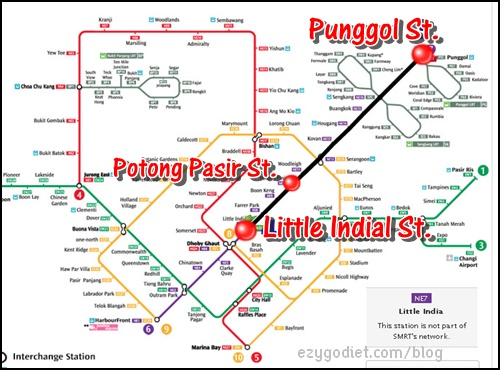 Punggol to Little India