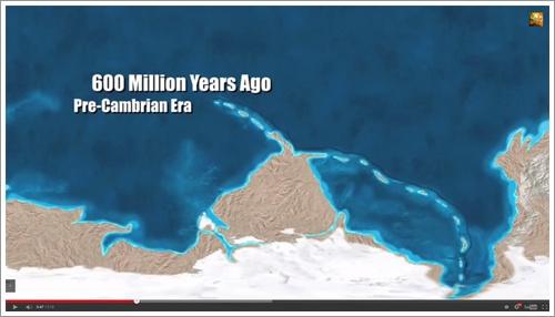 แผนที่โลก 600 ล้านปีก่อน