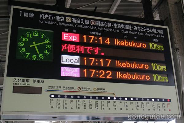 วิธีไป Kawagoe