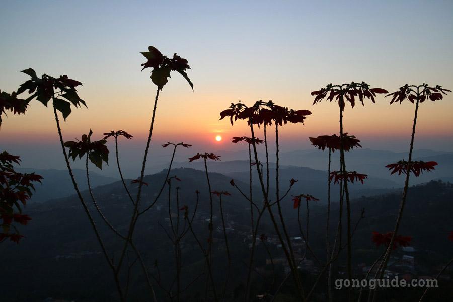 พระอาทิตย์ขึ้น วัดสันติคีรี
