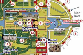 แผนเที่ยว Nymphenburg