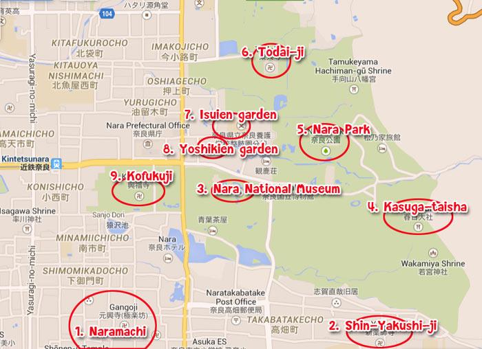 แผนเที่ยว Nara