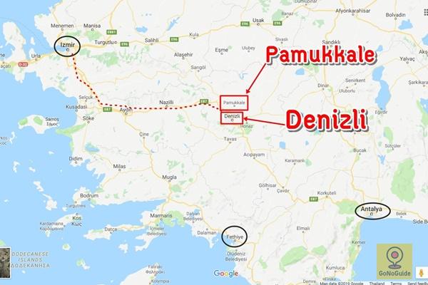 วิธีไป Pamukkale