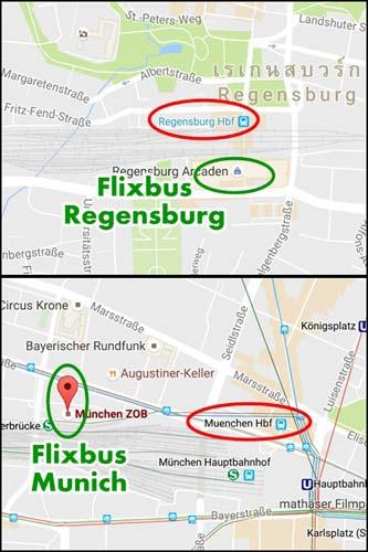 Flixbus จาก Regensburg ไป Munich