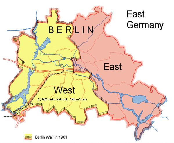 แผนที่แนวกำแพงเบอร์ลิน
