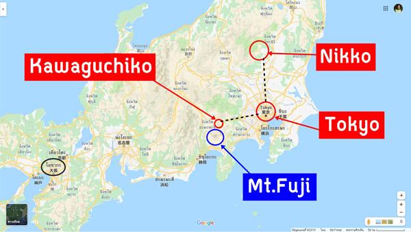 ภาพรวมแผนเที่ยวญี่ปุ่น