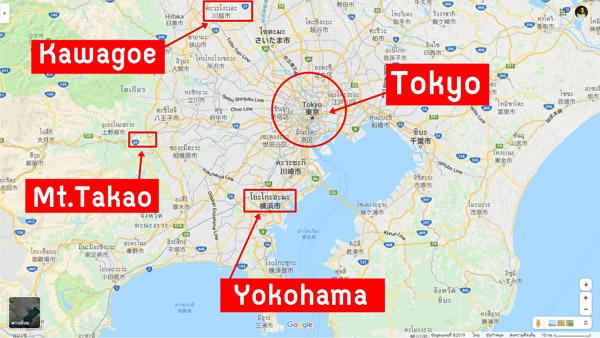 ภาพรวมแผนเที่ยวโตเกียว