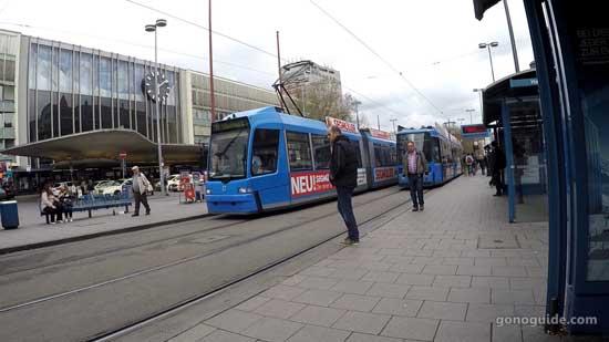 รถรางหน้า Munich Hauptbahnhof