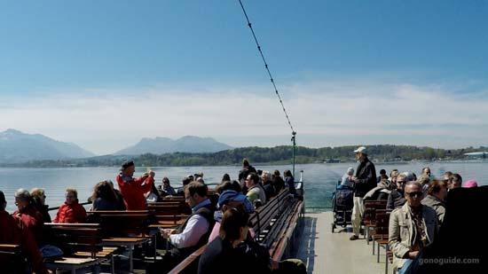 บนเรือล่องทะเลสาบ Chiemsee