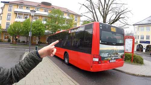 บัส 9606 ไป Oberammergau