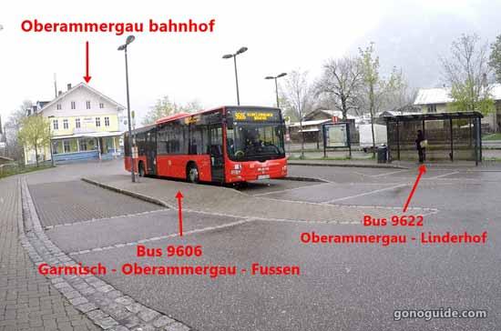ที่ขึ้นบัส Oberammergau