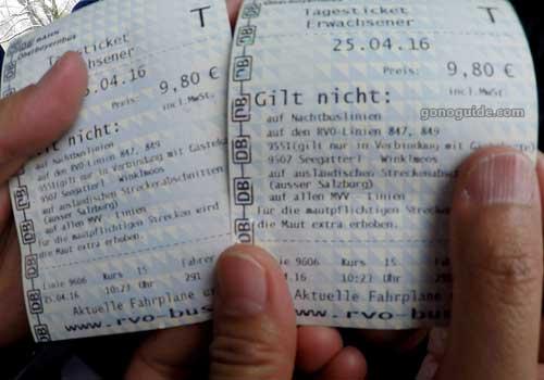 RVO bus day ticket