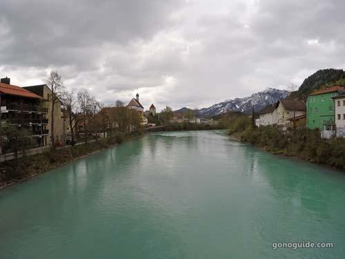 แม่น้ำ Lech ที่ Fussen