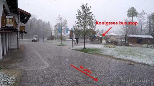 จุดลงบัสที่ Konigssee