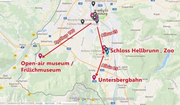 สายบัสที่ใช้ Salzburg card