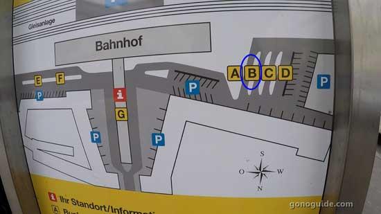 แผนผัง Krems bahnhof