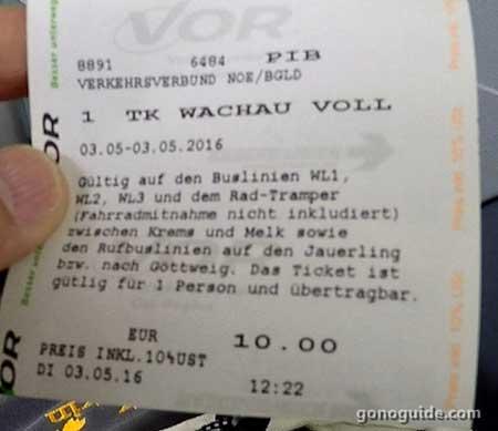 ตั๋ววันบัส Melk-Krems