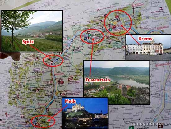 แผนที่แถบ Wachau