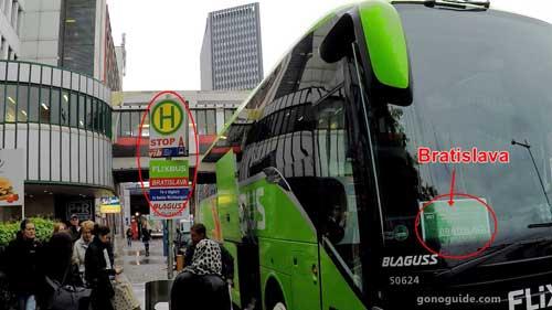 จุดขึ้น Flixbus ที่ Vienna