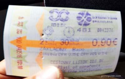 ตั๋วเดินทาง บราติสลาวา