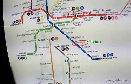 แผนผังทางเดินรถไฟบูดาเปสต์