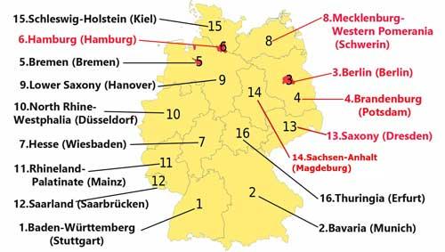 รัฐของประเทศเยอรมนี